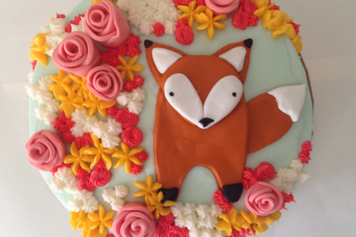 afton turns 1: a fox in the flowers