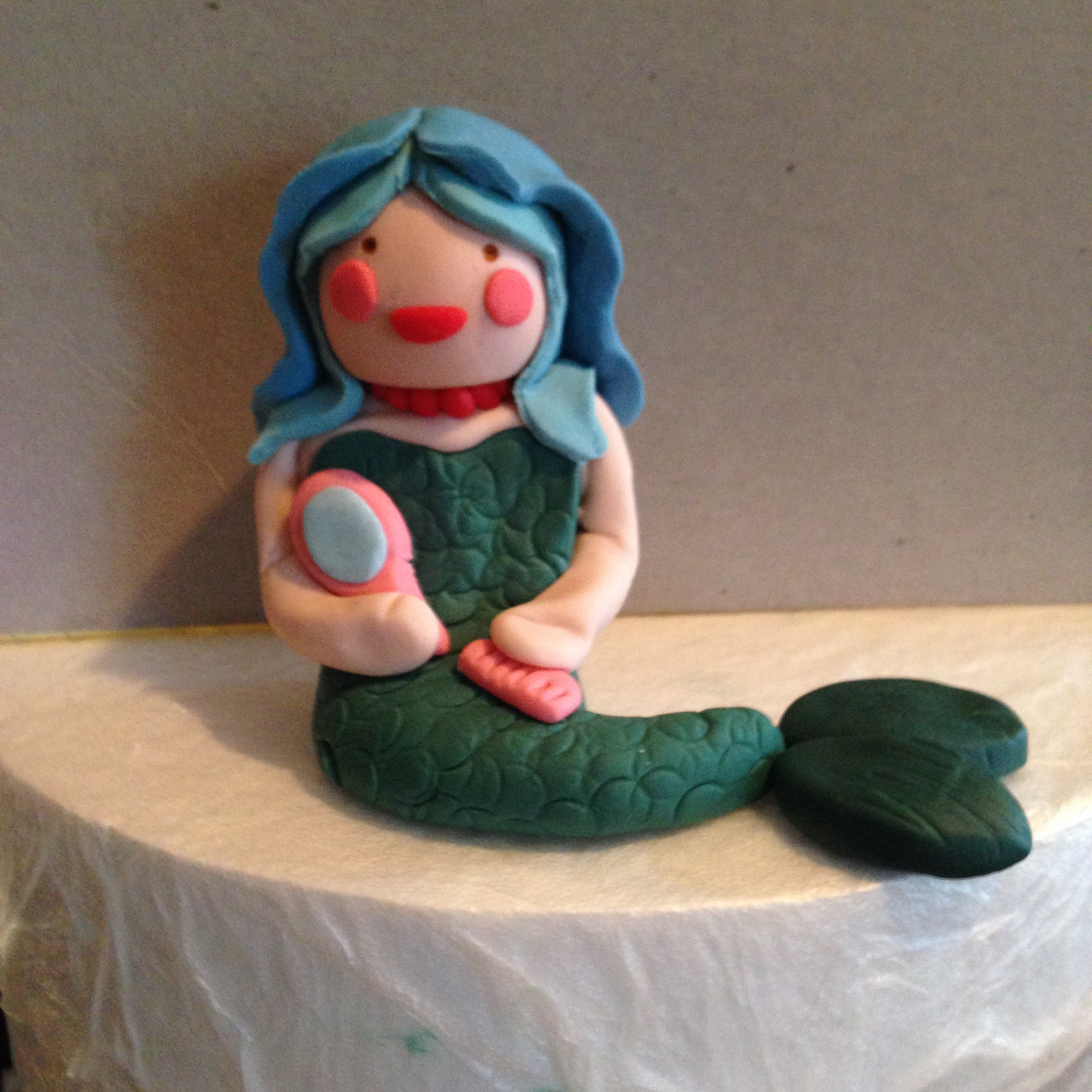 fondant mermaid