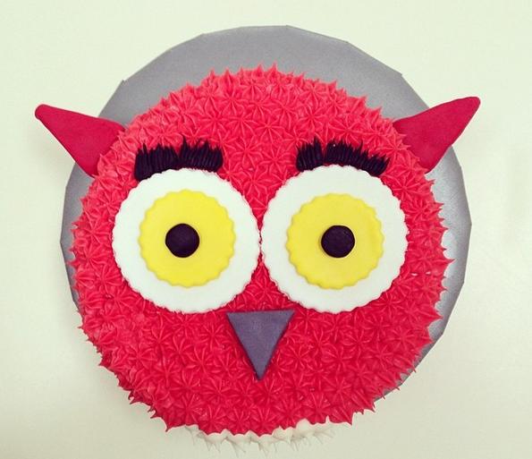 owl cake 1