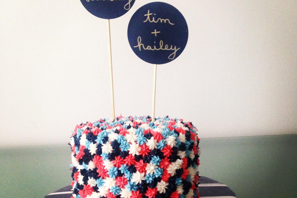 a cake for a couple - carrot + creamcarrot + cream
