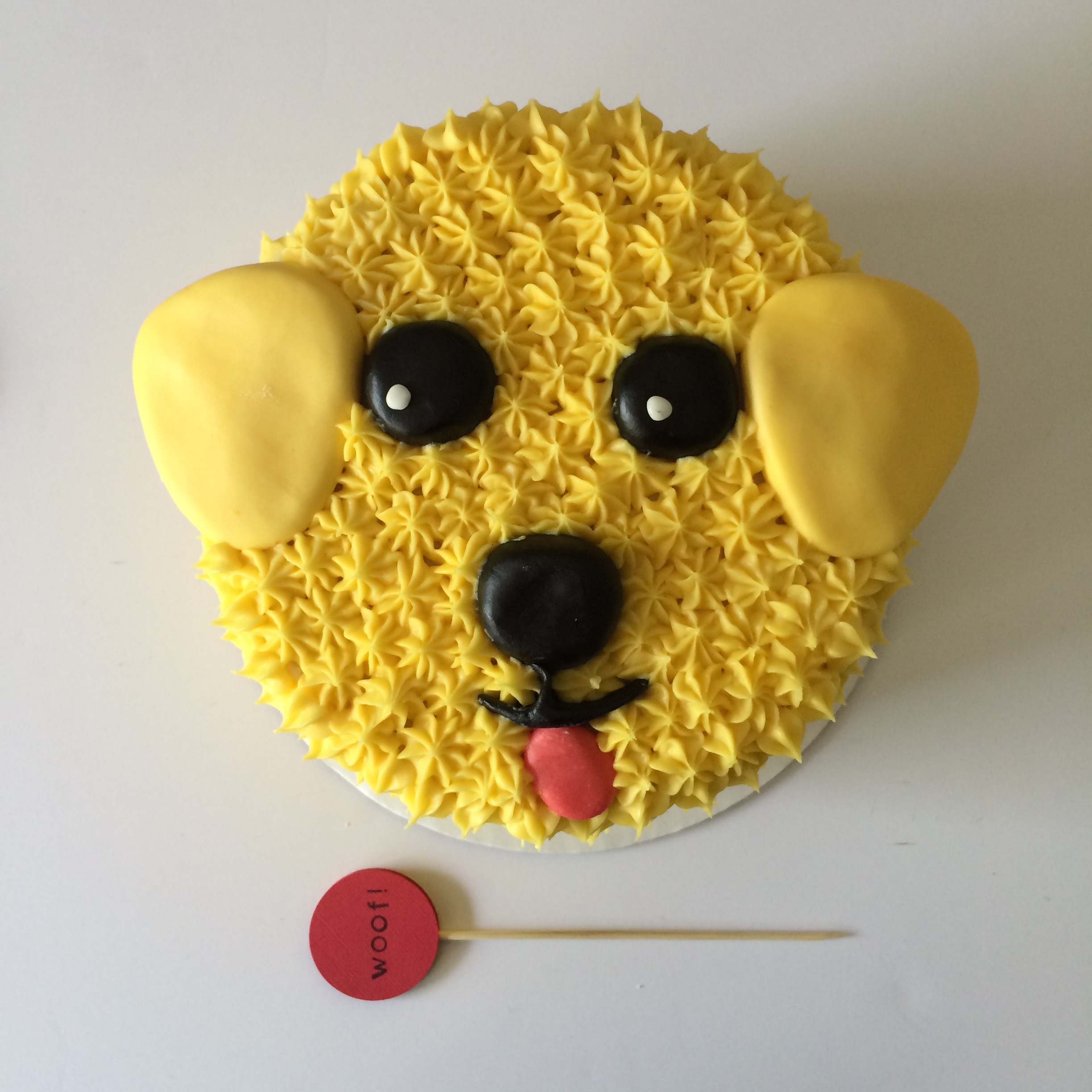yellow lab dog cake