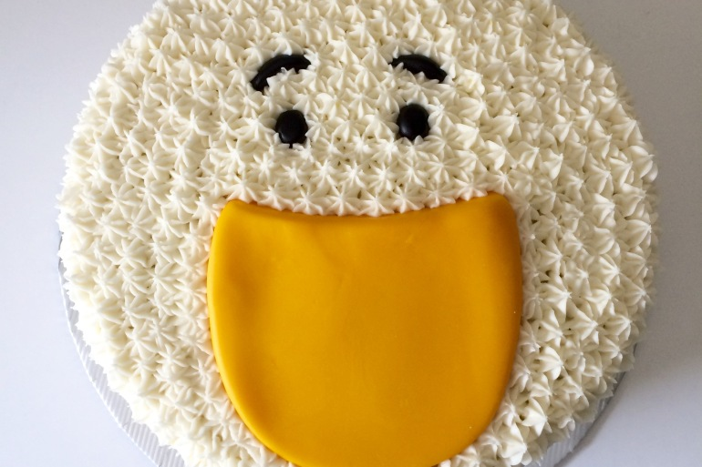 carrot + cream duck cake