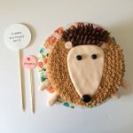 happy birthday nora: pepper the hedgehog cake