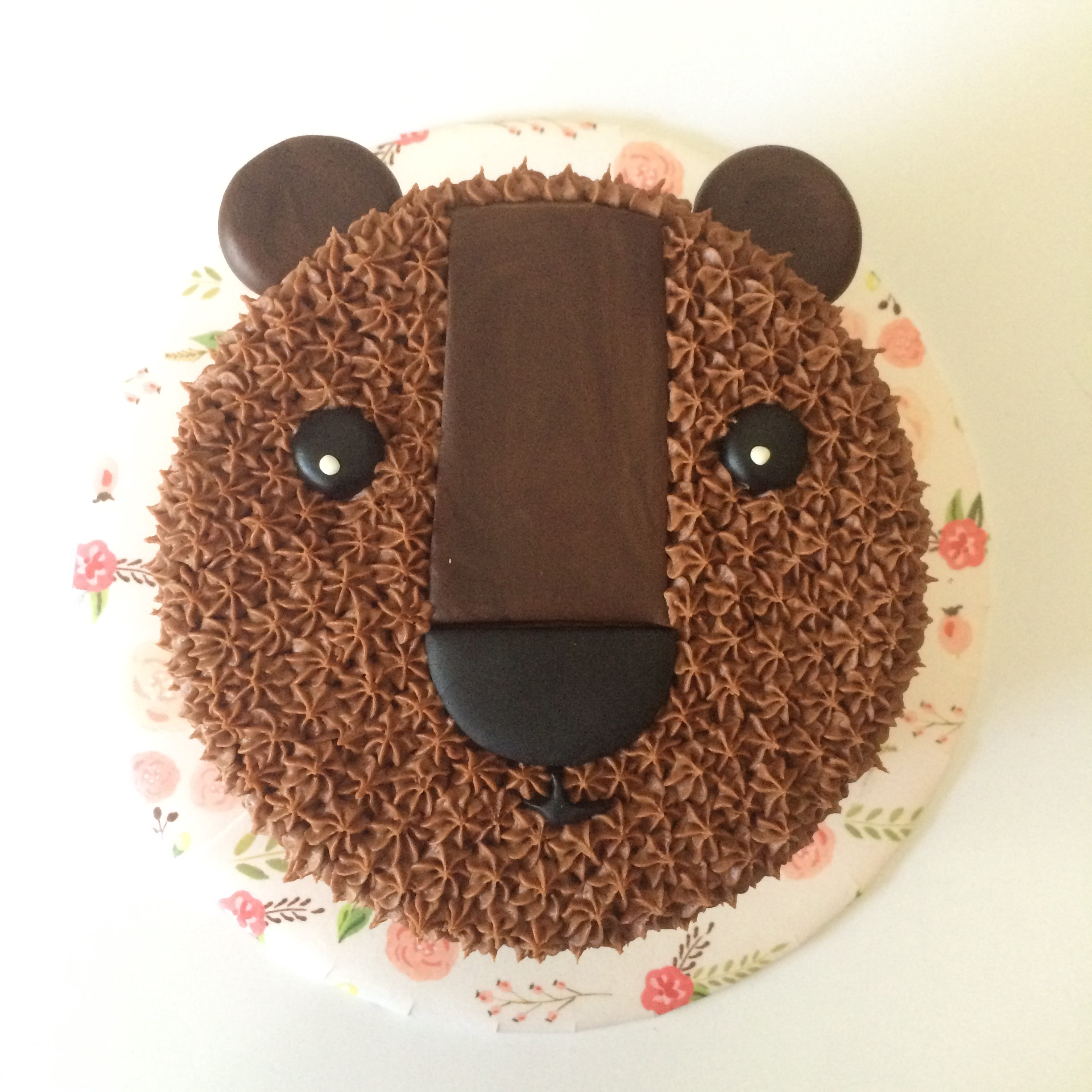 carrot + cream bear cake